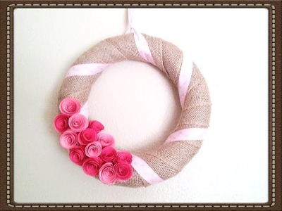 DIY Valentine's Day Wreath Easy & Quick Tutorial Burlap Wreath