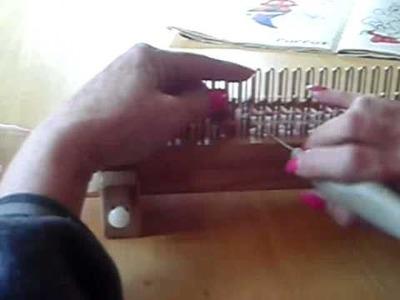 Flat panel knitting on a KISS loom