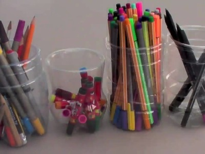 FluffySoap - DIY: Pencil Holder made from PET Plastic Bottles