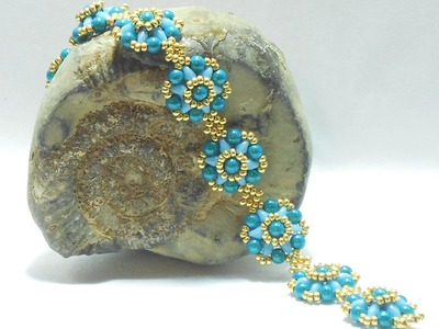 Forget Me Not Bracelet Beading Video Tutorial by Ezeebeady