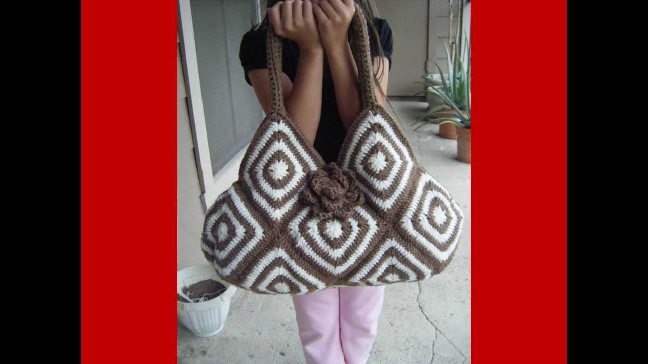 HOW CROCHET TOTE BAG BICOLOR (adult)