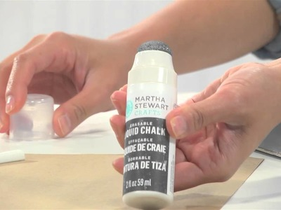 How To Create Chalkboard Art With Martha Stewart Crafts® Chalkboard Paint