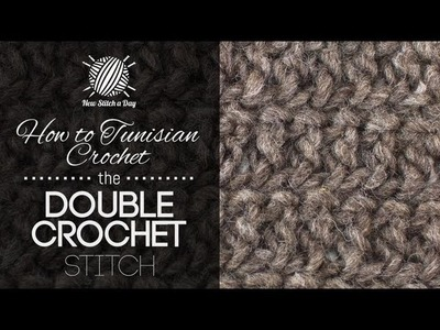 How to Crochet the Tunisian Double Crochet Stitch