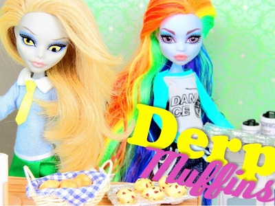How to make Doll Food:  Muffins | Plus Custom Equestria Monster Derpy Yelps - Doll Crafts
