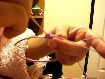 How to make the crochet earring pt2