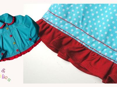 How to sew a Ruffle Hem -  Megan's Rockabilly blouse