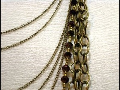 Multi Strand Chain Necklace Tutorial