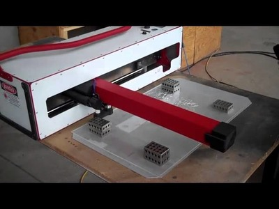 New Invention - The Origami | A portable, folding-arm laser cutter