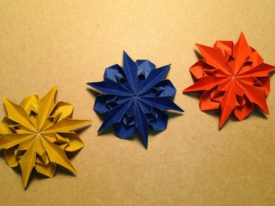Origami Flower Instructions. Dahlia 2