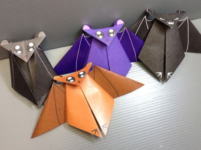 Origami Halloween Bat - Print Your Own Paper!