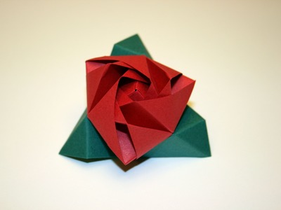Origami tutorial - Magic Rose Cube