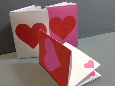 Origami Valentine Heart Notebooks - Print Your Own