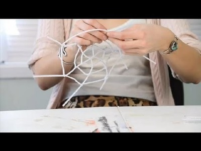 Pipe Cleaner Crafts for a Spider Web : Pipe Cleaner Crafts