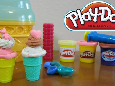 Play-Doh Ice Cream Cone Dessert Container Craft Kit Sweet Shoppe Playset by Hasbro Toys!