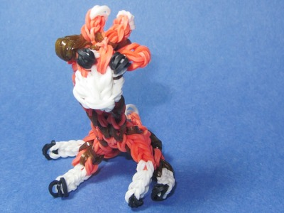 Rainbow Loom: GIRAFFE Charm: (DIY Mommy Animals)