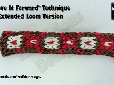"Rainbow Loom ""Move It Forward"" Technique Extended Loom Version (2 looms) Part 1"