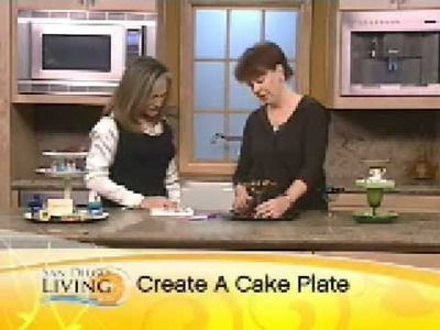 San Diego North Park Craft Mafia shows you how to make a cakeplate!