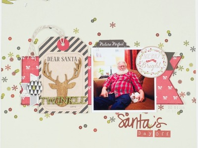 Scrapbooking Process Santas Day Off