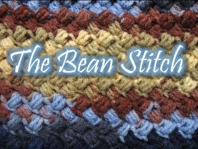 The Bean Stitch - Left Handed Crochet Tutorial