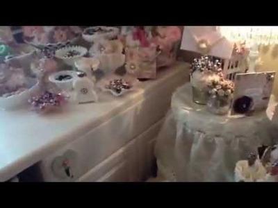 2013 Craft room update (milk glass collection)