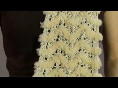 #26 Lace and Fur Scarf, Vogue Knitting Winter 2008.09