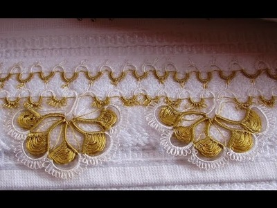 (4) Towel Lace Crochet Edge Patterns Models Designs New Trends