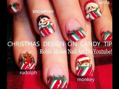 5 Nail Art Tutorials | DIY Easy Christmas Designs | Xmas NAILS