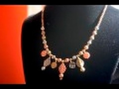 Bead Workshop #6: Silver Copper Bronze Beaded Necklace