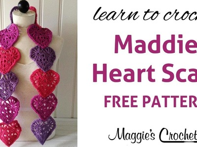 Crochet Maddie's Heart Scarf Assembly - Right Handed