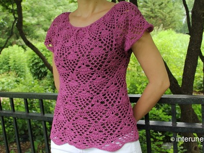 Crochet pineapple stitch blouse - Part 1 of 2