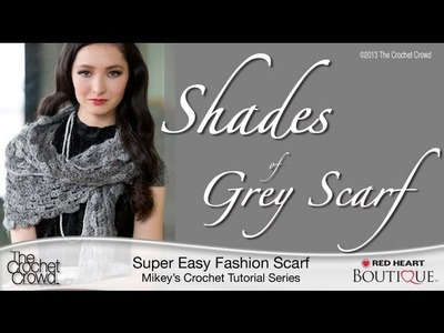 Crochet Shades of Grey Scarf Tutorial