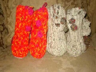 Crochet Slippers made by Subscribers