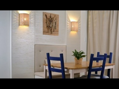 Dining room makeover:  DIY wall décor with wall panels Season 2, Ep 5 part 3