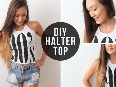 DIY: Halter Top From T-Shirt | LaurDIY