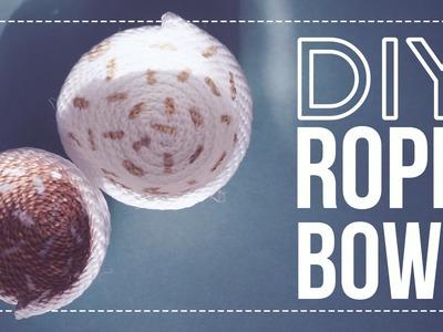 ✂ DIY Holiday Rope Bowls