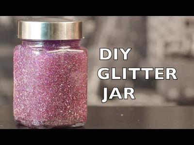DIY How To Make A Glitter Jar