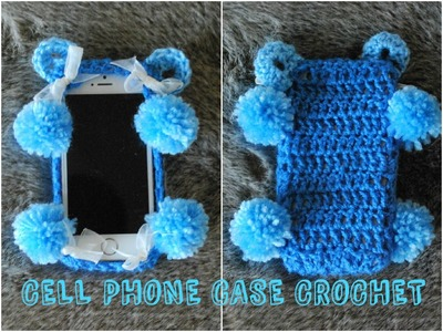 DIY iPHONE CASE Blue Bear Crochet Cell Phone Case