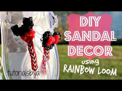 DIY Rainbow Loom Sandal Decor Tutorial | How To