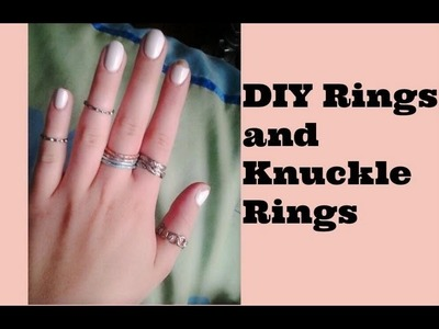 DIY Rings and Knuckle-Rings Out of Old Bracelets