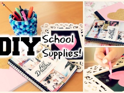 DIY School Supplies and Locker Decorations 2014!