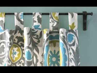 DIY Tab Top Curtains