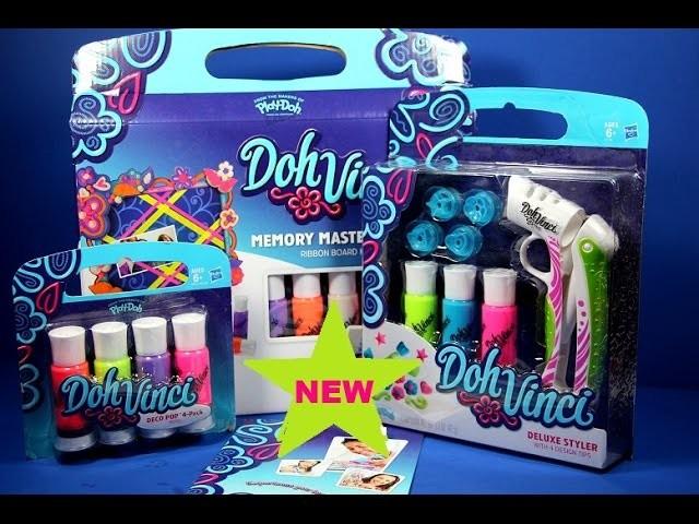Doh Vinci Deluxe Styler Set Memory Masterpiece Art Crafts Studio Review, DohVinci Hasbro Toys