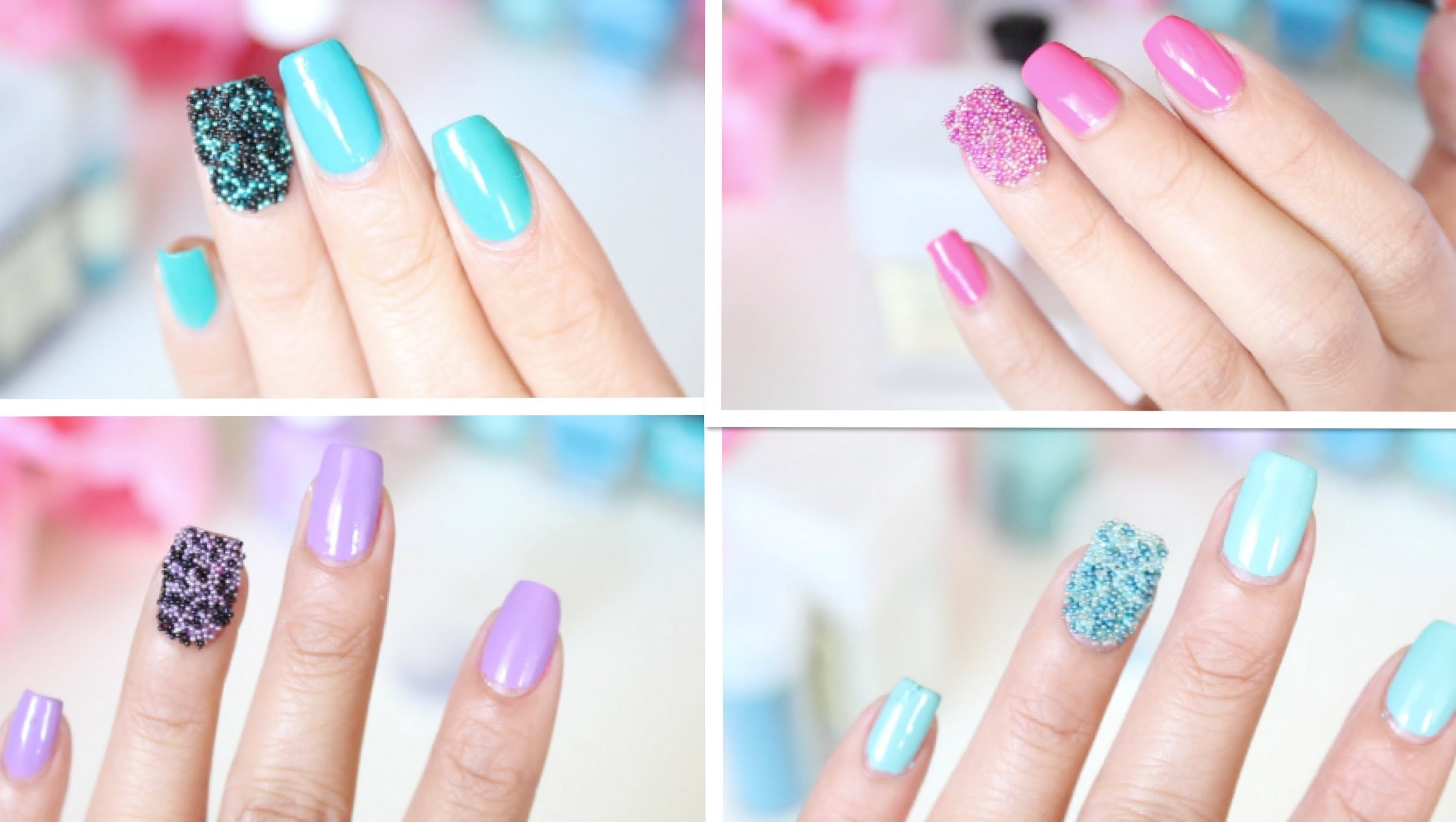 EASY DIY: Caviar Nails (microbeads.fish eggs nail tutorial) - ThatsHeart