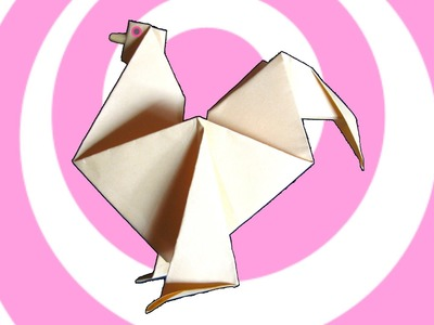 Easy Origami Rooster Instructions