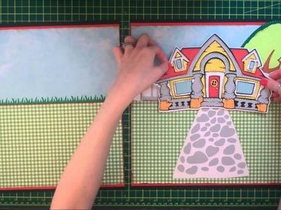 Faith Abigail Designs - Disney Album Series: Mickey Mouse Double Scrapbook Layout Tutorial