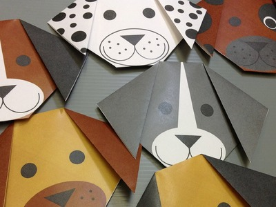 Free Origami Dog Paper - Print Your Own! - Cute Dogs