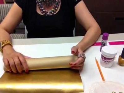 Golden Paper Bead Tube