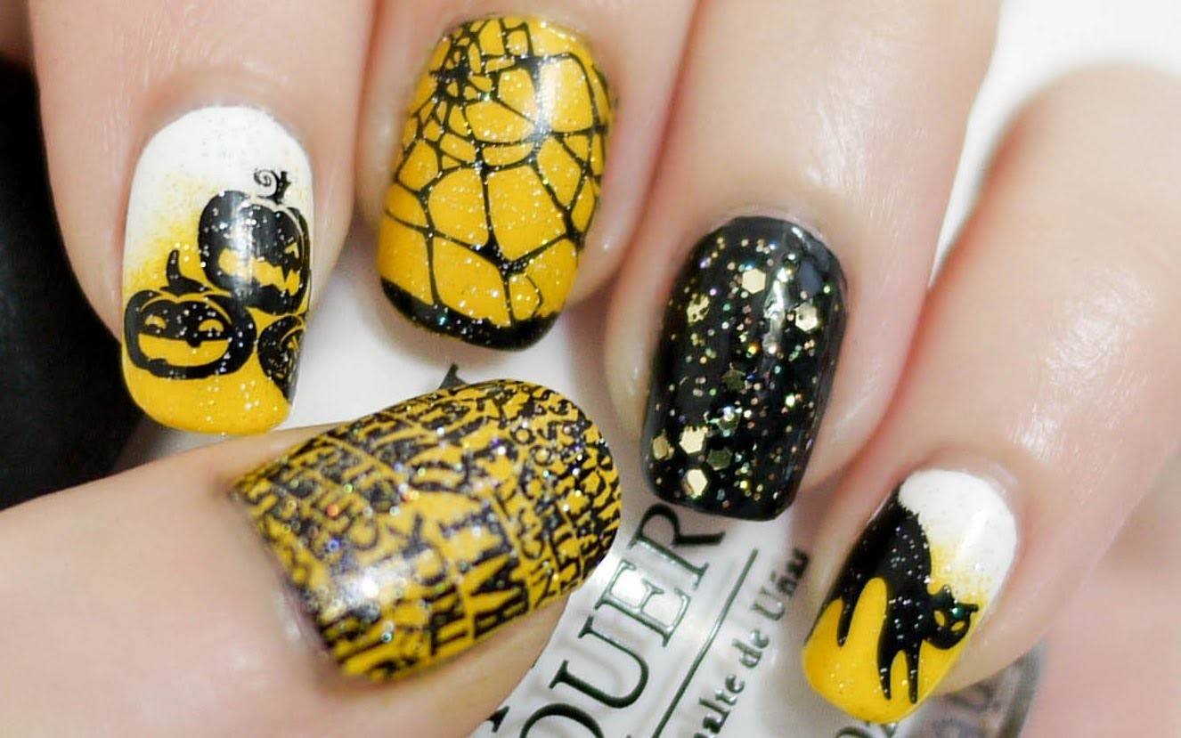 Halloween Nails (Konad Stamping)