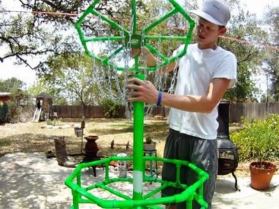 Homemade DIY Disc Golf Practice Basket
