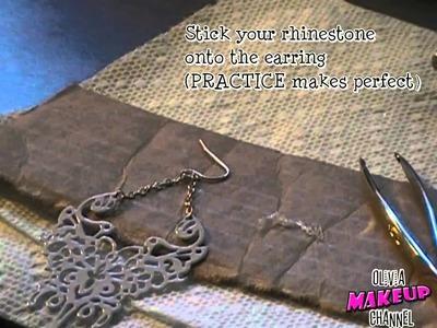 How To.DIY: How To Fix a Broken Earring! (From Broken to Beautiful!)   OliviaMakeupChannel